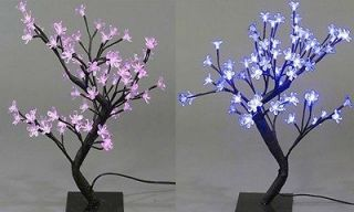 or White Indoor Outdoor LED Cherry Blossom Bonsai Wedding Party Tree