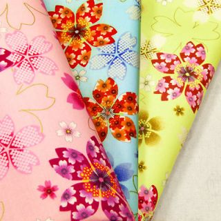 JAPANESE SAKURA CHERRY BLOSSOM ASIAN FLOWER 100% COTTON PRINT FABRIC