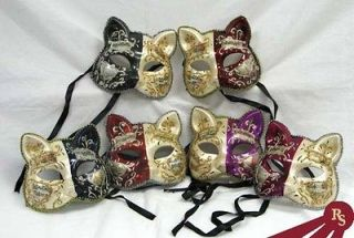 FANCY CAT FACE MASK   Painted Party Masks   MASQUERADE