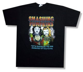 SMASHING PUMPKINS   HARLEQUIN CHECKERS TOUR 2008 T SHIRT   NEW ADULT