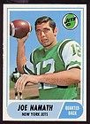 1968 Topps 65 Joe Namath PSA 8 Razor Sharp Corners