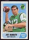 1968 Topps 65 Joe Namath PSA 8 Razor Sharp Corners