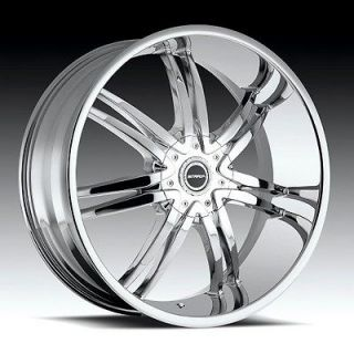strada diablo chrome wheels rims 6x5.5 avalanche chevy c2500 colorado