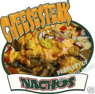 Cheese Steak Nachos Restaurant Concession Food Truck Decal 10