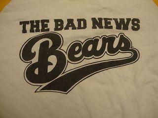 The Bad News Bears Chicos Bail Bonds White Raglan Graphic Print T