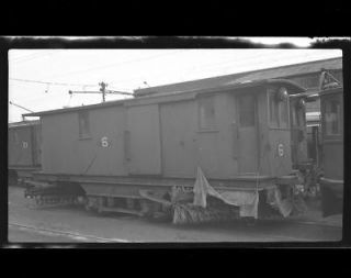 NEG. NY Streetcar Snow Sweeper Car 1940  48