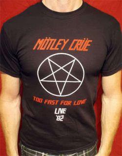 Motley Crue 82 t shirt vtg tour new york dolls guns n roses alice