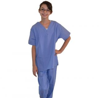Kids Scrubs Ceil Blue REAL Childrens Doctor and Nurse Scrub Sets