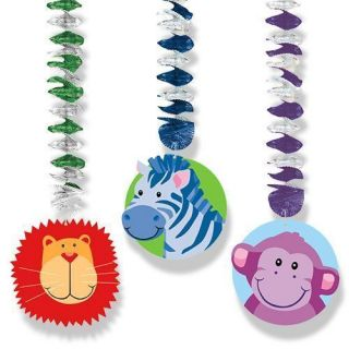 Safari HANGING DECORATIONS ~ Baby Shower Birthday Party Supplies