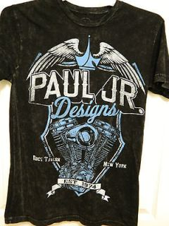 PAUL JR DESIGNS T SHIRT, MOTORCYCLE, CHOPPER, BIKER, OCC,BLUE MOTOR