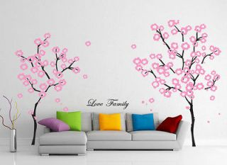 Removable Vinyl Decal Sticker Cherry Blossom Tree Branch Set T315