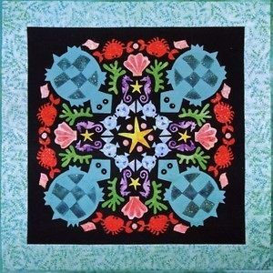 Turquoise Turtles #1 Circle of Friends Quilted Lizard Quilt Pattern