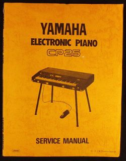 YAMAHA CP25 Electronic Piano   SERVICE MANUAL