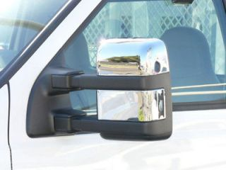 08 10 F250 F350 TFP Chrome Towing Mirrors COVERS W/Osig