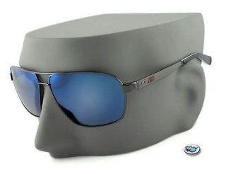 EV0637 (947) VINTAGE 85 Aviator Sunglasses   Black Chrome / Blue Flash