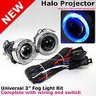 Dodge Ford Focus 3 Universal Blue Halo Projector Fog Light Kit