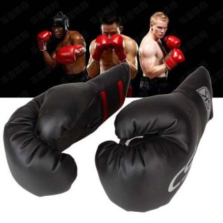 CSK Kids Child Practice Training Sparring Boxing Gloves Black Unisize