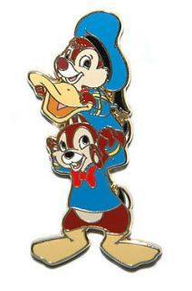 DISNEY PIN le 250 HALLOWEEN CHIP & DALE DRESSED AS DONALD DUCK 2008