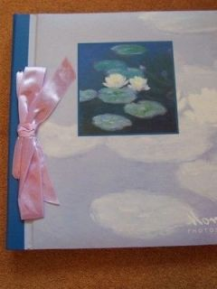 Monet Water Lilies Photograph Album Wedding Lilac Coffee Table NEW