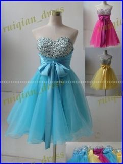 Short Beaded Sweetheart Cocktail/Prom/Homecoming Dresses pink,bule