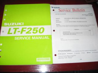 2002 Suzuki ATV LT F250 Quad Runner Factory Service/Repair Manual_OEM