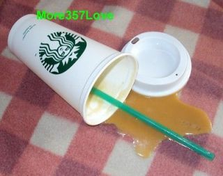 STARBUCKS CUP SPILLED ICE ESPRESSO CAFE COFFEE SHOP DISPLAY PROP SPILL