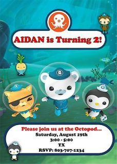 OCTONAUTS INSPIRED Customized Birthday Party Invitations Cards