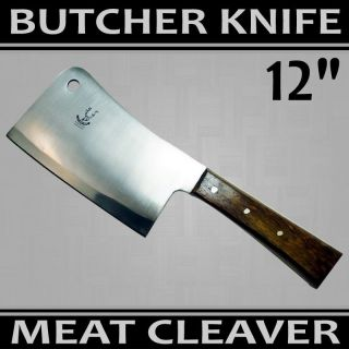 NEW HIGH QUALITY HEAVY DUTY MEAT CLEAVER PRO GRADE BUTCHER KNIFE BMT25