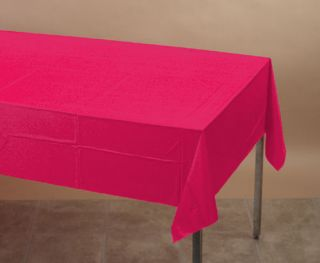 Hot Magenta Pink Plastic Table Cover   Party Supplies
