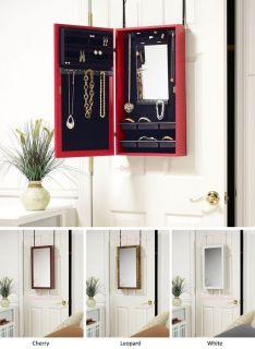 Jewelry Organizer for Closet Door or Wall   Exterior & Interior Mirror