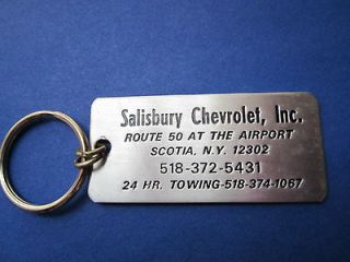 Vintage CHEVROLET Key Chain KEY RING Salisbury Chevrolet, Inc. SCOTIA