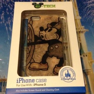 DISNEY iPHONE 5 CLIP CASE & SCREEN GUARD   STEAMBOAT MICKEY