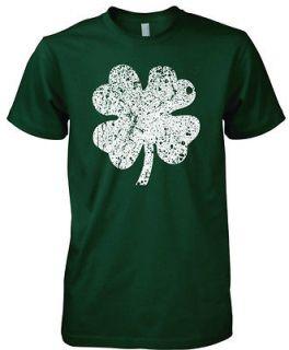 Four Leaf Clover V Neck Ringer T Shirt Irish Pride St Patricks Day