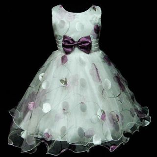 NEW GIRLS CLOTHS SIZE 5 6 YEAR PAGEANT FLOWER DRESS