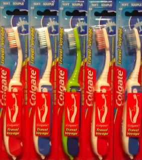 New Colgate Travel Toothbrush Folding Compact Soft Bristle (PACK OF
