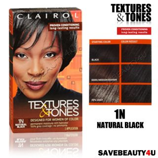 Buy Clairol Textures & Tones Permanent Moisture Rich Hair Color, Dark