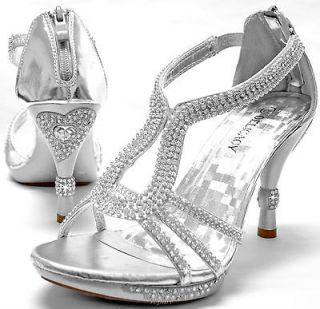 New womens shoes stilettos rhinestones back zipper wedding prom party