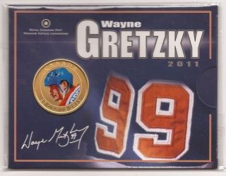 2011 25 cent Colored Canada Coin   Wayne Gretzky