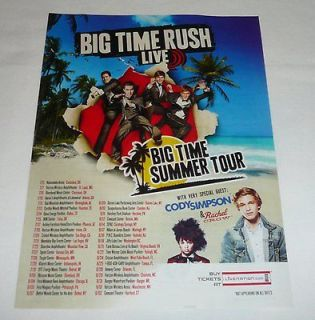 2012 LiveNation ad page ~ BIG TIME RUSH, Cody Simpson, Rachel Crow
