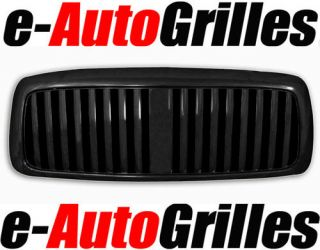 02 05 Dodge Ram BLACK Vertical Package Billet Grille (Fits 2005 Ram