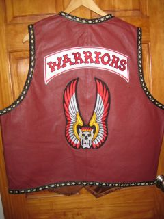 The Warriors Genuine Leather Vest waistcoat HIGHEST QUALITY mezco