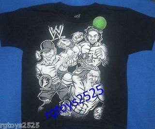 WWE John Cena Glow in the Dark HHH Kofi T Shirt Size 6 7 Small Childs