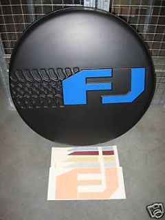 FJ CRUISER SPARE TIRE COVER COLOR MATCHED VINYL DECALS