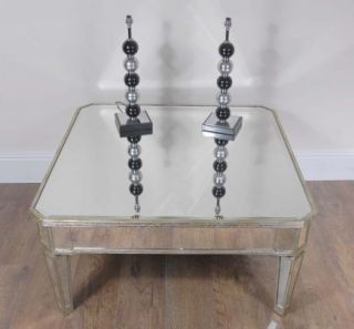 Deco Mirrored Coffee Table Mirror Borghese Furniture Cocktail Tables
