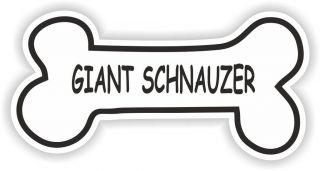 GIANT SCHNAUZER BONE STICKER BREED NAME DOG FOOD BOWL PUPPY PET VINYL