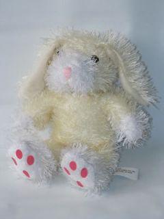 Dollar Tree Yellow/white Plush Bunny Rabbit w Pink nose 9 tall FREE
