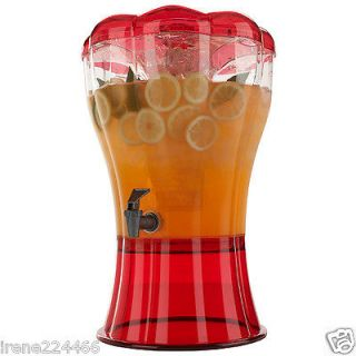 gal Buddeez Cold Beverage Unbreakable Dispenser Red w/Ice Cone BPA