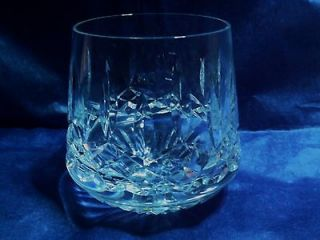 WATERFORD LISMORE ROLY POLY WHISKY GLASSES OLD FASHIONED TUMBLERS