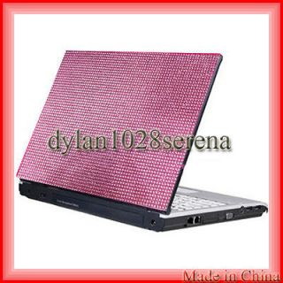New Pink Notebook Laptop Bling Rhinestone Crystal Sticker Skin