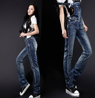 Women Overalls trousers denim Casual Slim strap jeans trousers